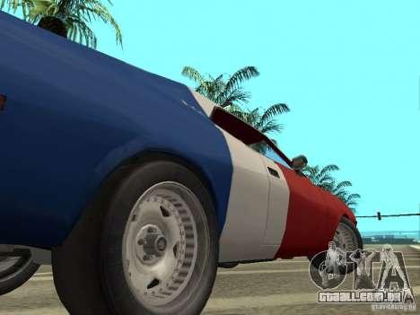 AMC Javelin 1970 para GTA San Andreas vista traseira