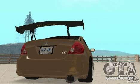 Toyota Scion tC Edited para GTA San Andreas vista interior