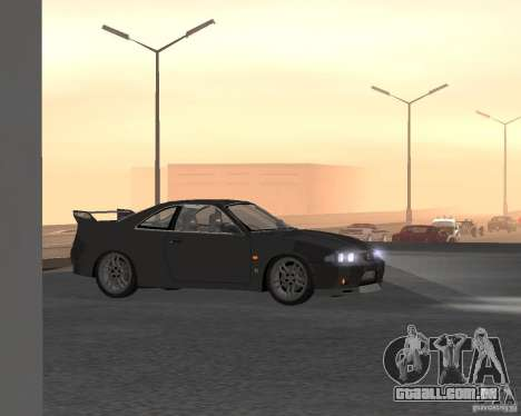 Nissan Skyline GT-R R-33 para GTA San Andreas vista superior
