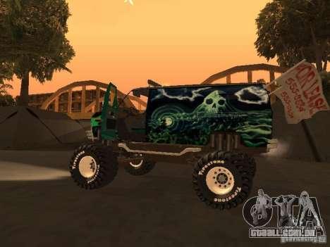 Ford Grave Digger para GTA San Andreas vista direita