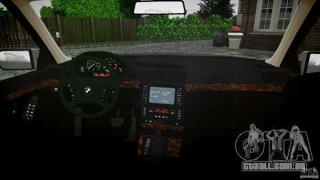 BMW 740i (E38) style 32 para GTA 4 vista de volta