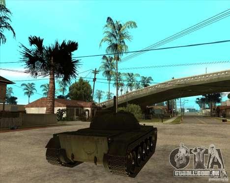 T-55 para GTA San Andreas traseira esquerda vista