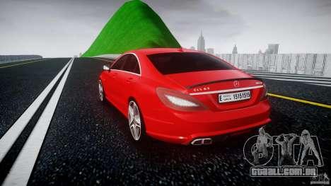 Mercedes-Benz CLS 63 AMG 2012 para GTA 4 traseira esquerda vista