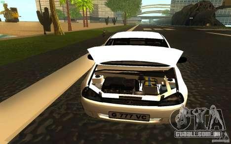 Lada Kalina Stock para GTA San Andreas vista traseira