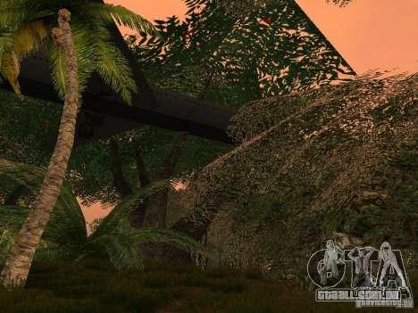O mistério das ilhas tropicais para GTA San Andreas quinto tela