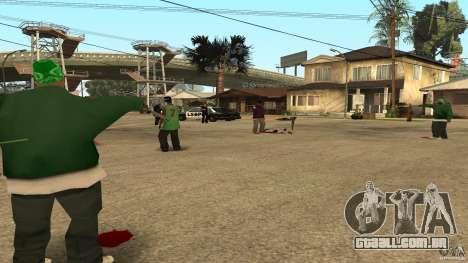 Na Grove Street foi atacado por Ballas para GTA San Andreas terceira tela