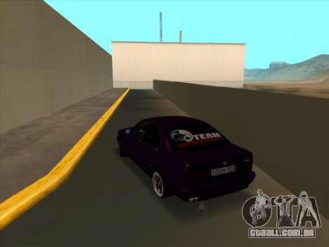 BMW M5 E34 NeedForDrive para GTA San Andreas traseira esquerda vista