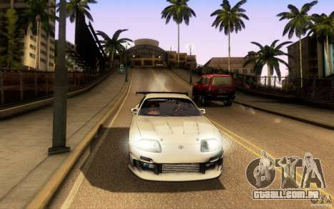 Toyota Supra Top Secret para GTA San Andreas vista inferior