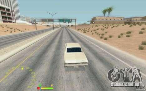 Calibre de combustível e velocímetro para GTA San Andreas segunda tela