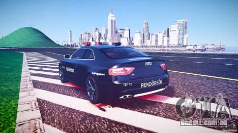 Audi S5 Hungarian Police Car black body para GTA 4 vista superior