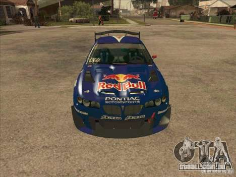 Pontiac GTO Red Bull para GTA San Andreas vista traseira