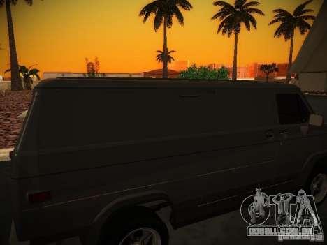 GMC Vandura para GTA San Andreas vista interior