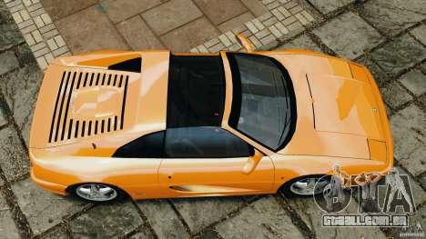 Ferrari F355 F1 Berlinetta para GTA 4 vista direita