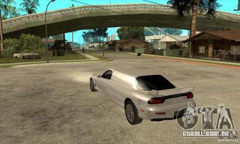 Mazda RX-7 Limousine para GTA San Andreas traseira esquerda vista
