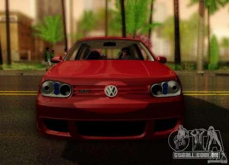 Volkswagen Golf Street para GTA San Andreas vista direita