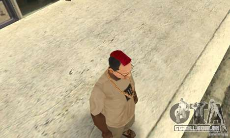 Red Mohawk and Black Stubbles para GTA San Andreas