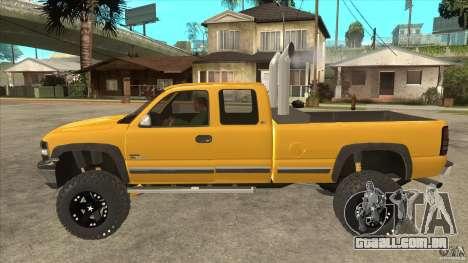 Chevrolet Silverado 2500 Lifted para GTA San Andreas esquerda vista