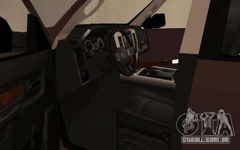 Dodge Ram 3500 para GTA San Andreas vista traseira