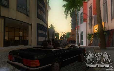 Mercedes-Benz 350 SL Roadster para GTA San Andreas vista traseira