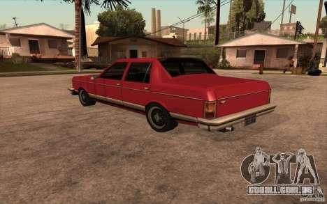 Regal 1987 San Andreas Stories para GTA San Andreas traseira esquerda vista