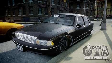 Chevrolet Caprice FBI v.1.0 [ELS] para GTA 4 vista de volta