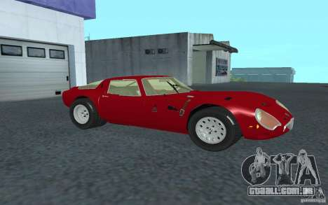 Alfa Romeo Gulia TZ2 1965 para GTA San Andreas esquerda vista