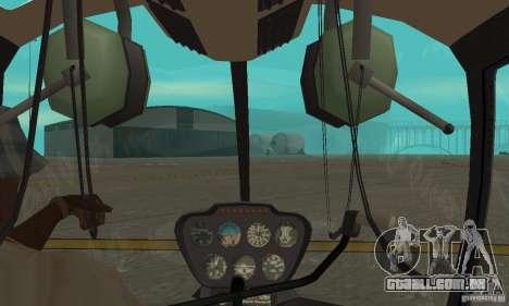 Robinson R44 Raven II NC 1.0 4 de pele para GTA San Andreas vista interior