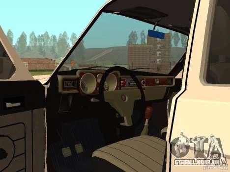 Volga 31022 gás 4 x 4 para GTA San Andreas vista traseira