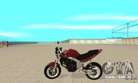 GTAIV BF400 FINAL para GTA San Andreas esquerda vista