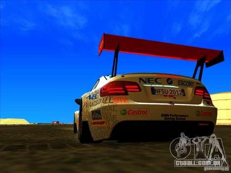 BMW M3 GT ALMS GT2 Series para GTA San Andreas vista direita