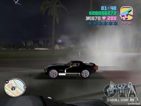 Dodge Viper Hennessy 800 para GTA Vice City vista traseira