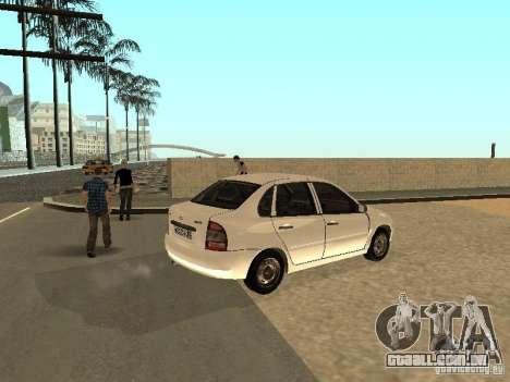 Lada Kalina para GTA San Andreas vista direita