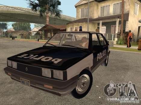 Renault 11 Police para GTA San Andreas vista traseira