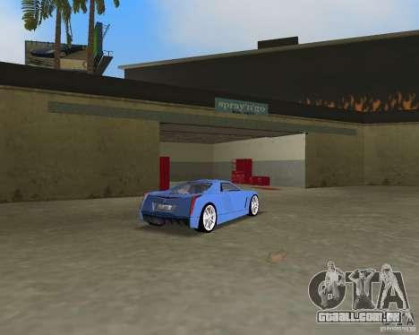 Cadillac Cien para GTA Vice City vista traseira