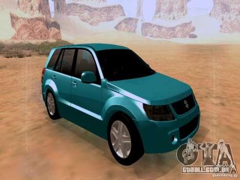 Suzuki Grand Vitara para GTA San Andreas vista direita