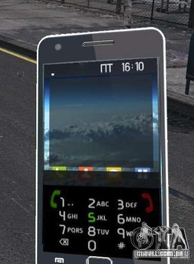 Samsung Galaxy S2 para GTA 4 por diante tela