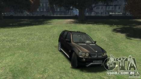 BMW X5 para GTA 4 vista direita