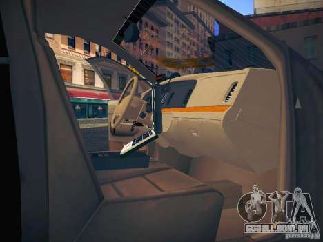 Ford Crown Victoria Police Intercopter para GTA San Andreas interior