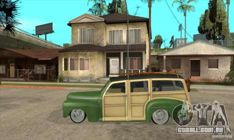 Ford Woody Custom 1946 para GTA San Andreas esquerda vista