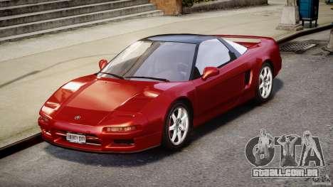 Acura NSX 1991 para GTA 4 vista direita