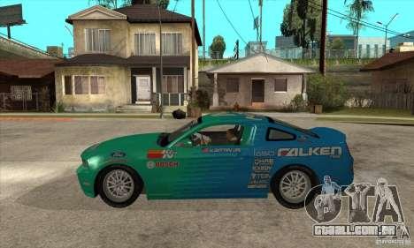 Ford Mustang GT Falken para GTA San Andreas esquerda vista