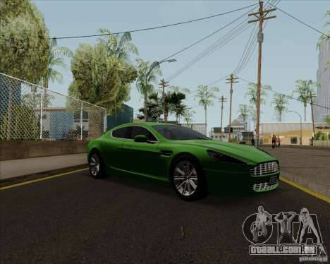 Aston Martin Rapide 2010 V1.0 para GTA San Andreas traseira esquerda vista
