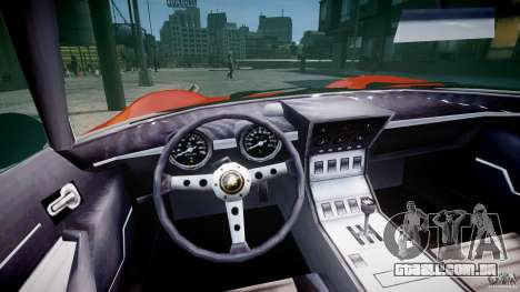 Lamborghini Miura P400 1966 para GTA 4 vista de volta