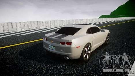 Chevrolet Camaro para GTA 4 vista lateral