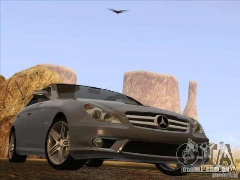 Mercedes-Benz CLS63 AMG para GTA San Andreas vista traseira