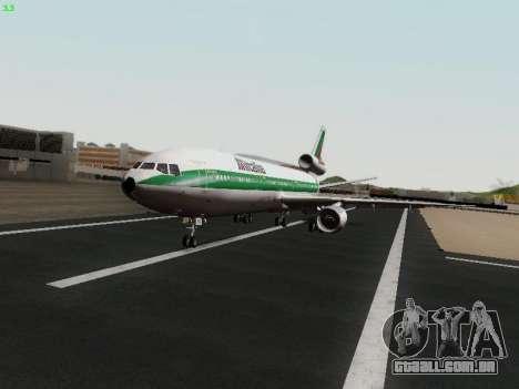 McDonell Douglas DC-10-30 Alitalia para GTA San Andreas vista traseira