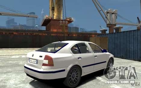 Skoda Octavia II 2005 para GTA 4 vista direita