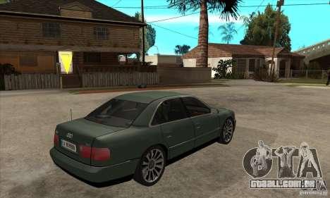 Audi A8 Long 6.0 2000 para GTA San Andreas vista direita