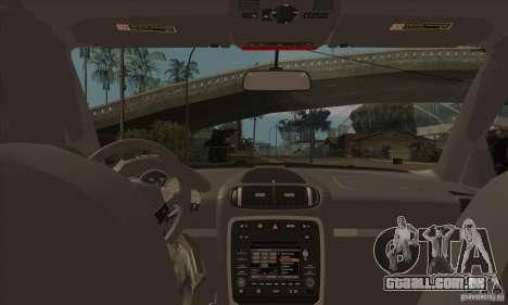 Porsche Cayenne 2010 para GTA San Andreas vista interior