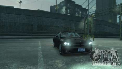 Dodge Charger 2007 SRT8 para GTA 4 vista de volta
